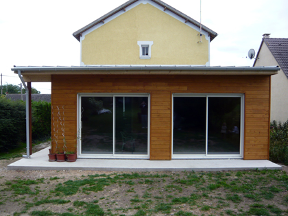 Une maison ou une extension en ossature bois notes de for Construire une extension en ossature bois
