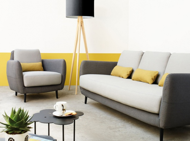 Moutarde notes de styles le blog for Salon jaune moutarde