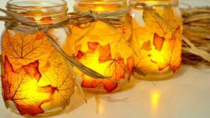 Notes de Styles photophore feuilles d'automne