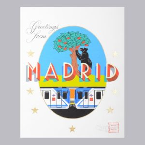Greetings From Madrid Maison Anatole Postcard