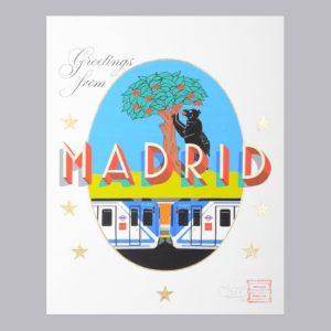 Greetings From Madrid Maison Anatole Postcard