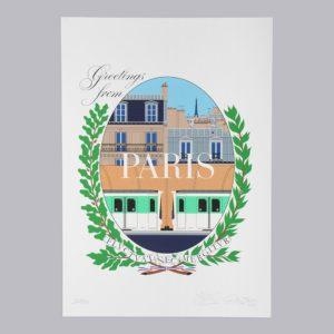 Greetings From Paris Maison Anatole Postcard
