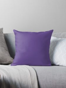 coussin ultra violet, redbubble