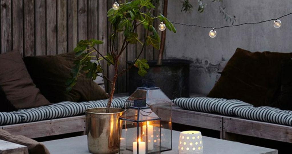 aménager son patio avec des luminaires