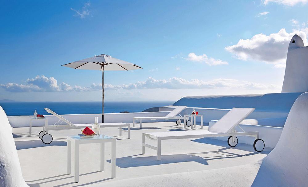 Bain de soleil à roulettes en aluminium, maisons du monde, Notes de Styles