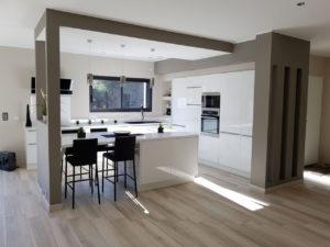 Cuisine ouverte avec sol identique, Notes de Styles - Aménager sa cuisine ouverte