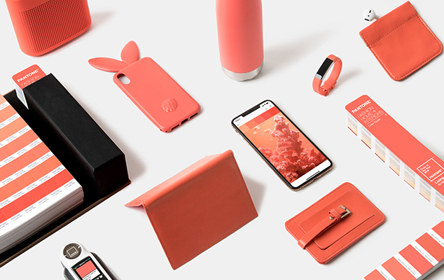 Pantone Color of the Year 2019 Living Coral in Product Design