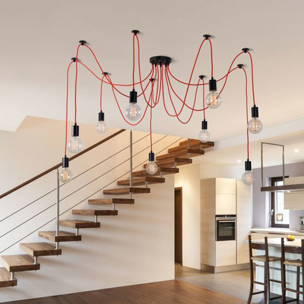 Suspension SPIDER LAMP, 4 Murs
