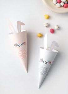 Cône - Cornet en papier lapins / We are scout - DIY Pâques Notes de Styles