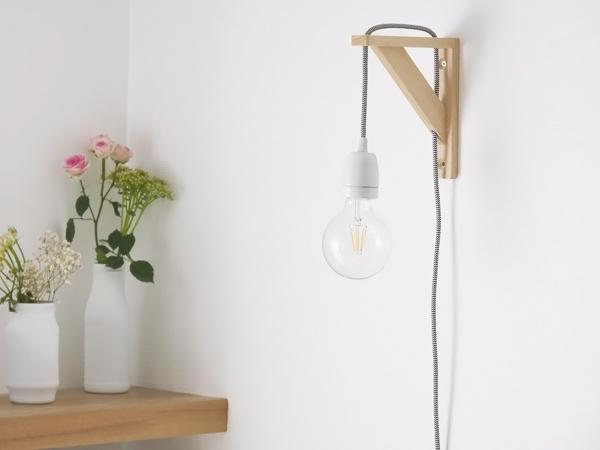 Lampe minimaliste, Black Confetti - Notes de Styles