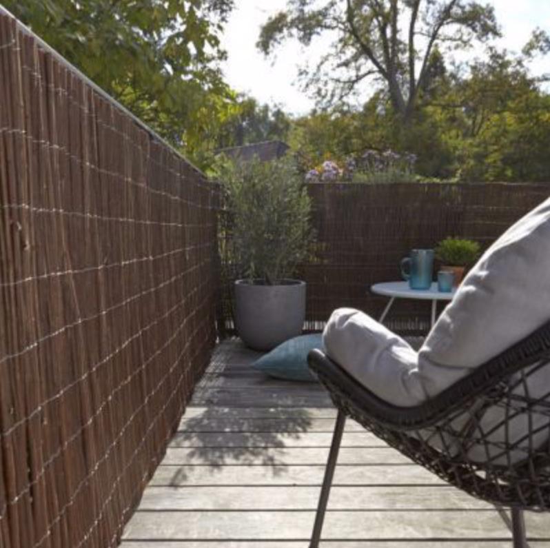 Salon d'été - Canisse en osier naturel Castorama