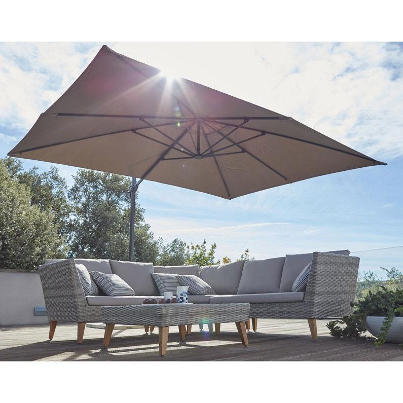 Salon d'été - Parasol déporté Leroy Merlin