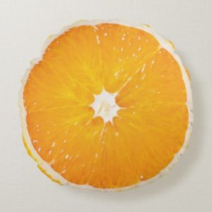 Coussin, tranche d'orange - Zazzle