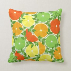 Coussin, agrumes - Zazzle