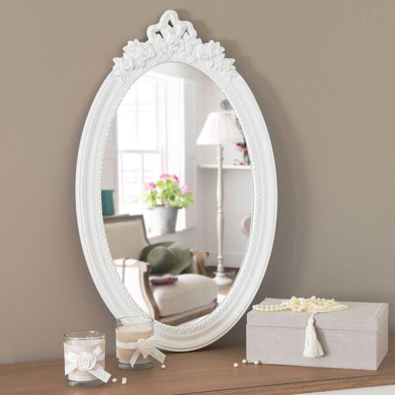 Miroir blanc ovale - Maisons du Monde
