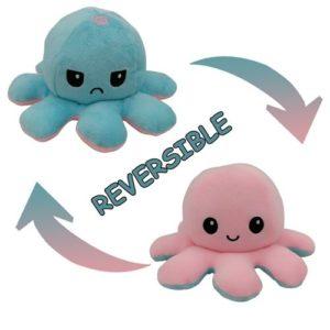 Octopu, peluche réversible