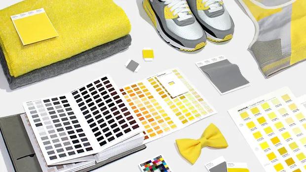 Pantone 2021 Grey Ultimate et illuminating yellow