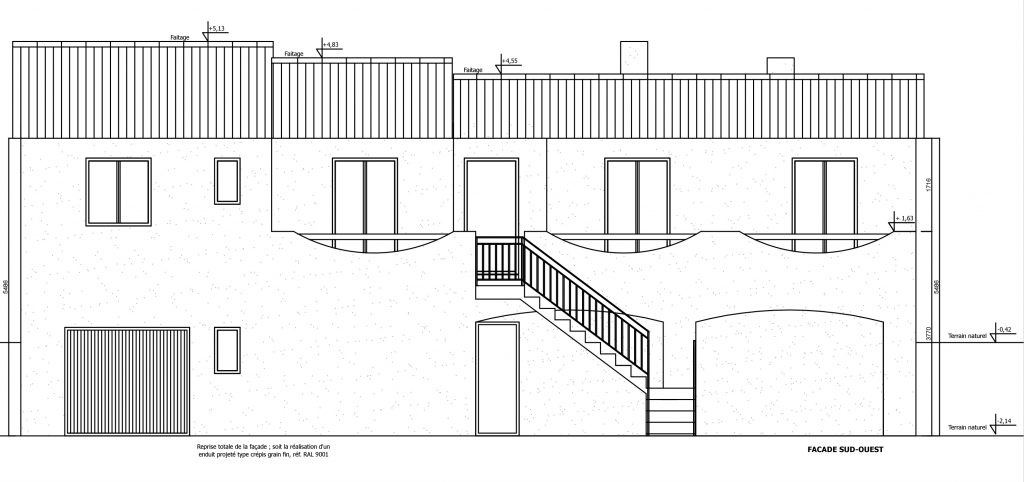 Plan de maison, architecture DPLG Notes de Styles