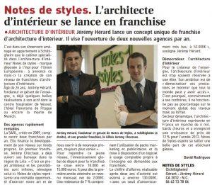 Ouverture de la première agence Notes de Styles à Lille