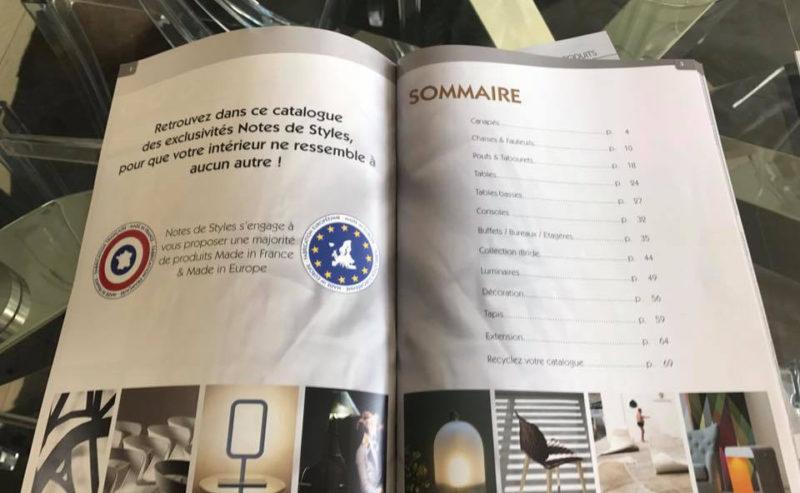 Notes de Styles - Catalogue